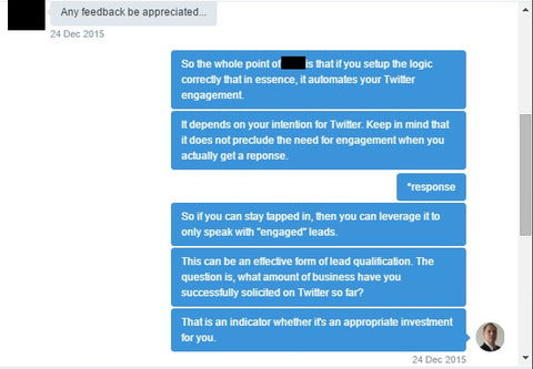 Twitter Marketing Automation Conversation 2