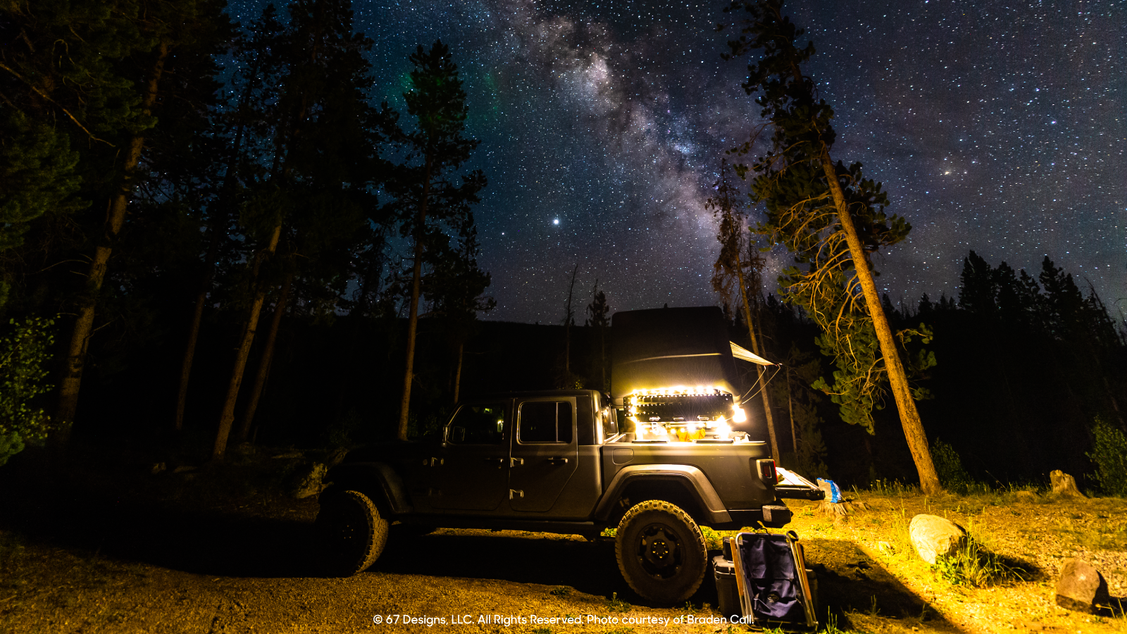 Starry night for the Jeep
