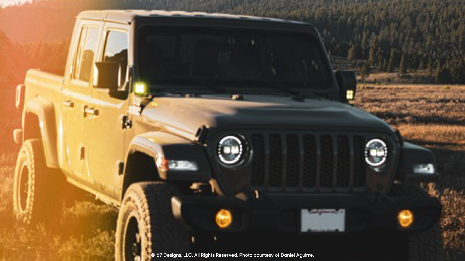 Jeep Gladiator in sunset