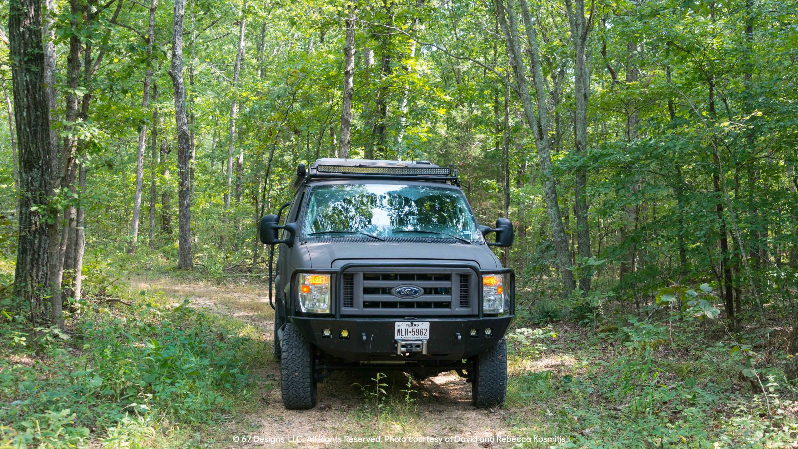 David and Rebecca's Ford through woods