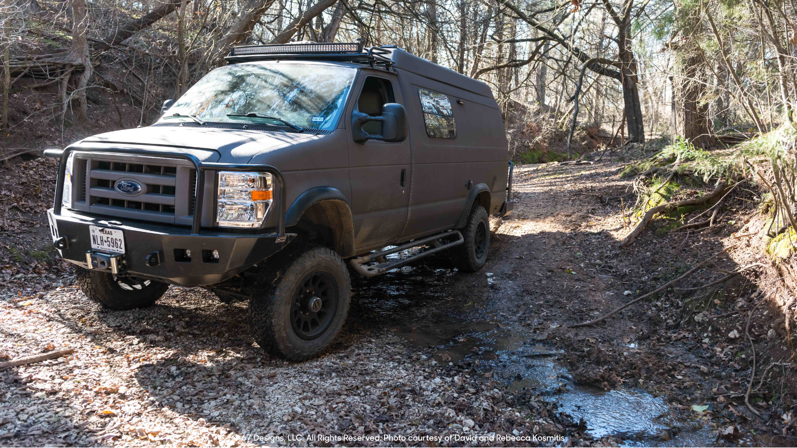 Ford overlanding in the woods