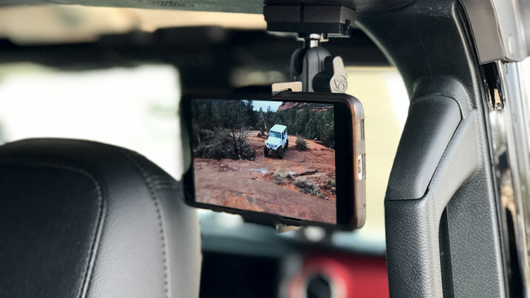 The perfect phone mount for rear seat passengers!