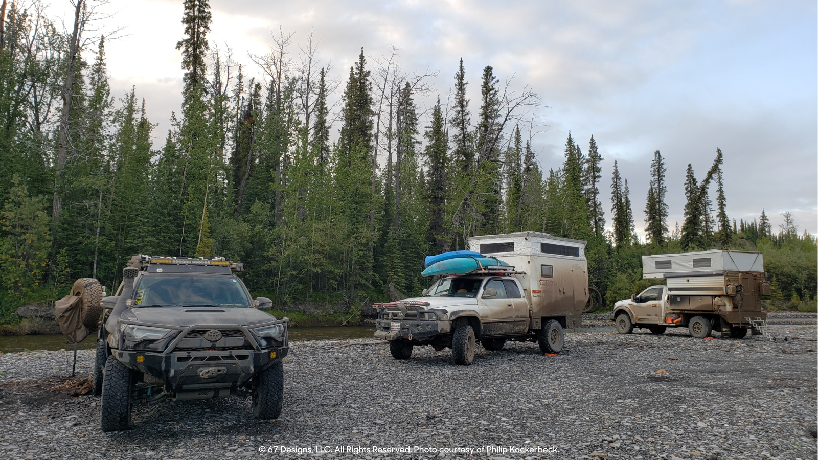 David's Jeep with other overlanding vehicles