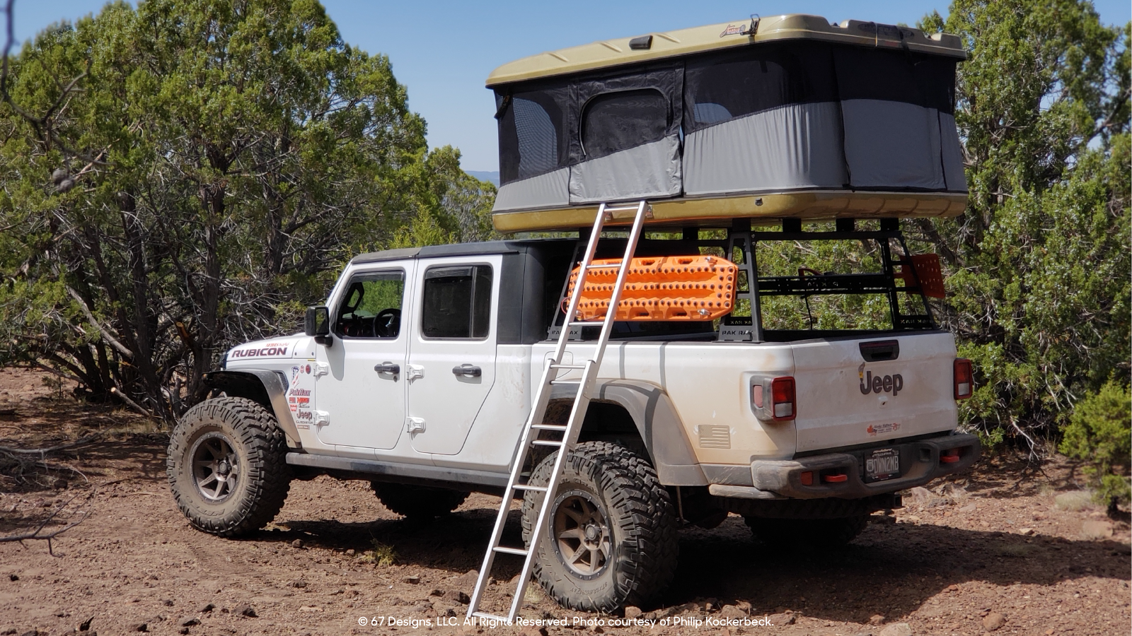 Jeep with the rooftop tent