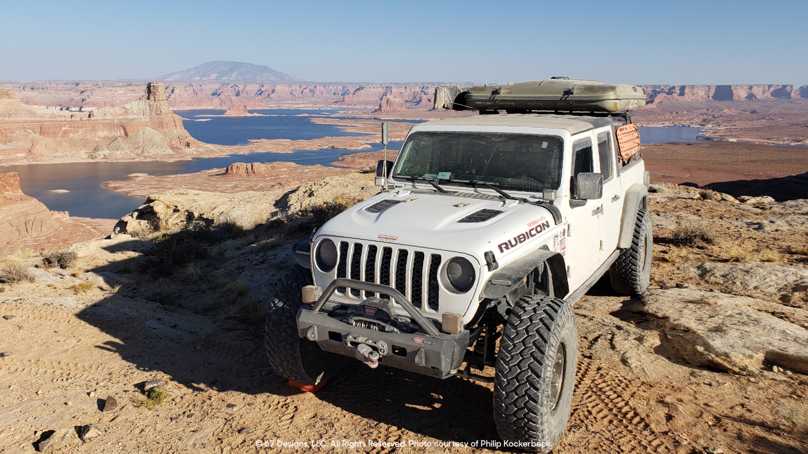 David's Jeep out in the desert