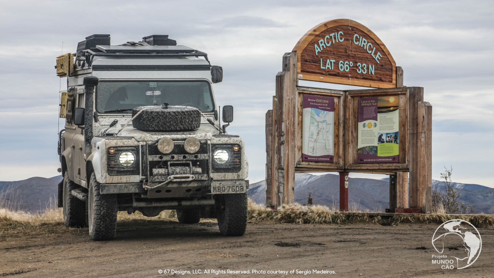 Land Rover in Arctic Circle