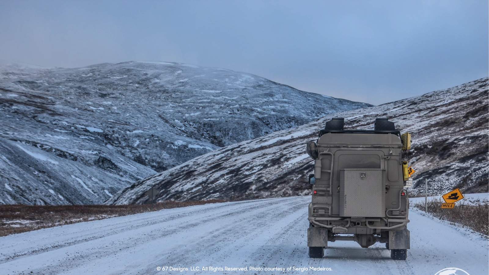 Land Rover in snowy conditions