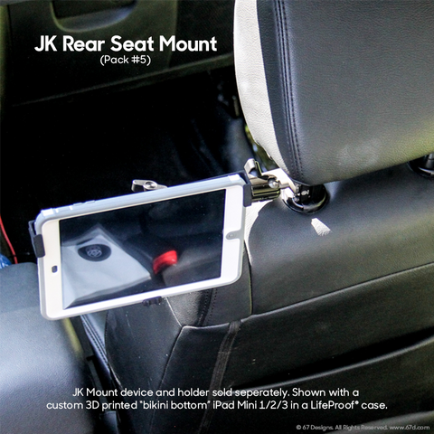 JK Rear Seat Mount - Do not forget to add a device holder to your order!