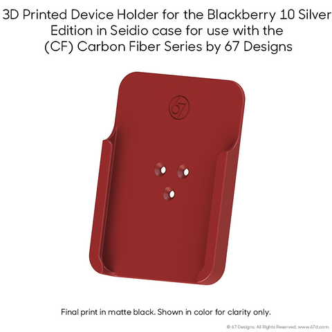 Blackberry 10 Silver Edition in Seidio case