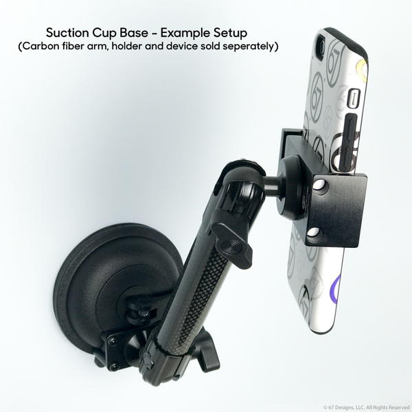 (CF) Carbon Fiber Series Suction Cup Holder Base