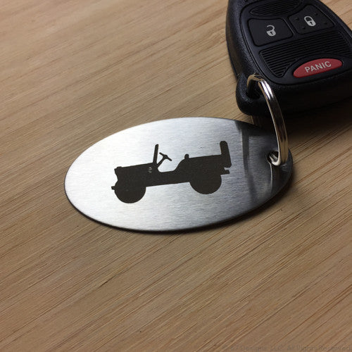 Jeep Silhouette Keyring