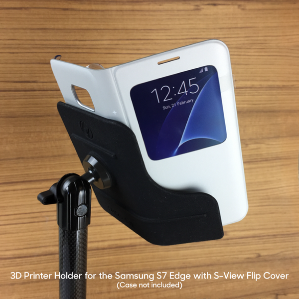 Holder for Samsung S7 Edge in S-View Flip Cover
