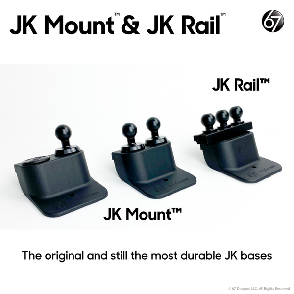 Jeep® JK Mount / JK Rail (2011-18) Base Options