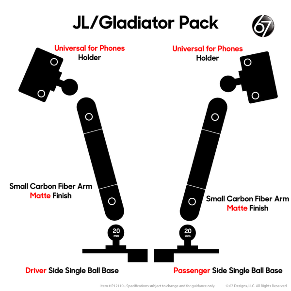 Jeep® JL / Gladiator Double Ball Packs - P12110