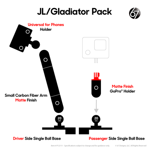 Jeep® JL / Gladiator Double Ball Packs - P12111