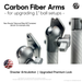 "Carbon Fiber Arms - 1"" and 1"" Clamps (Matte)"