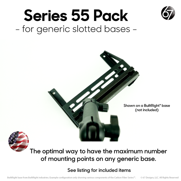 Series 55 Rail Packs for Generic Slotted Bases