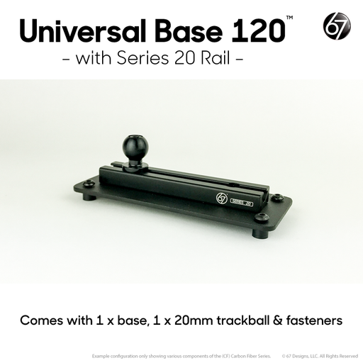 Universal Base 120 with Series 20 Rail Installed