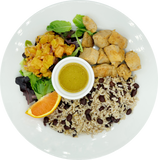 Jamaican Jerk Bowl with Grilled Pineapple Salad & Orange Honey Vinaigrette - with Chicken