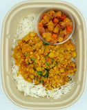 Red Lentil & Chickpea Curry with Apple Mango Chutney
