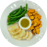 Rosemary Lemon Chicken with Sweet Potatoes and Green Beans