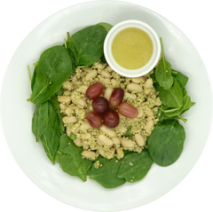 Power Salad - Basil Mint White Beans with Spinach and Grapes