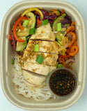 Teriyaki Veggie & Rice Noodles with Chicken