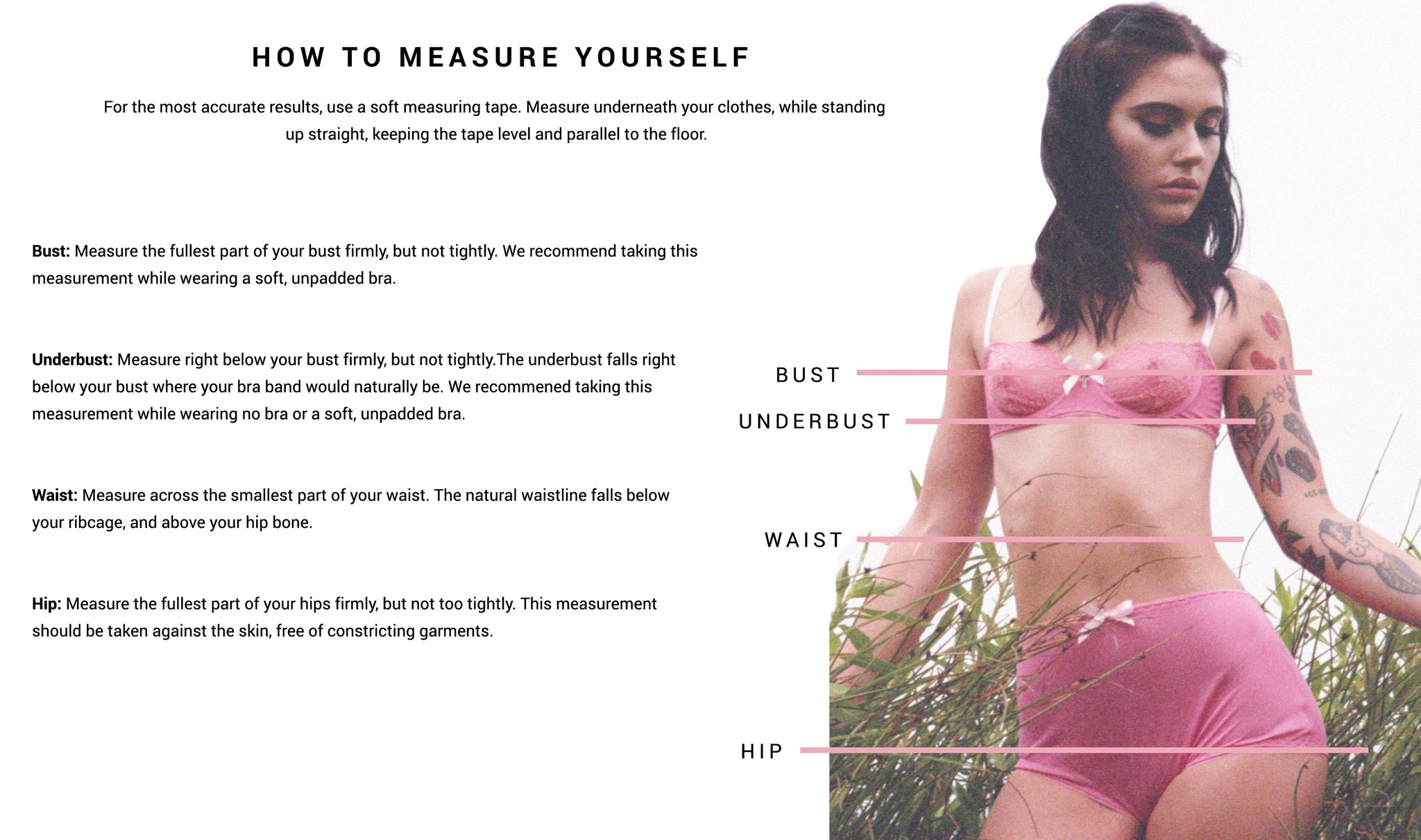 Alexandrea Anissa How to measure yourself Guide