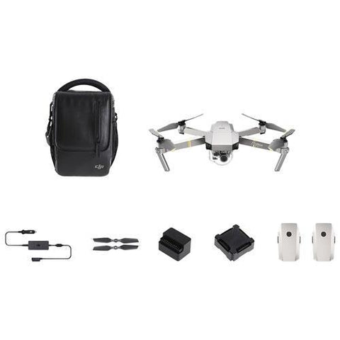 DJI Mavic Pro Platinum Quadcopter Drone - Fly More Bundle
