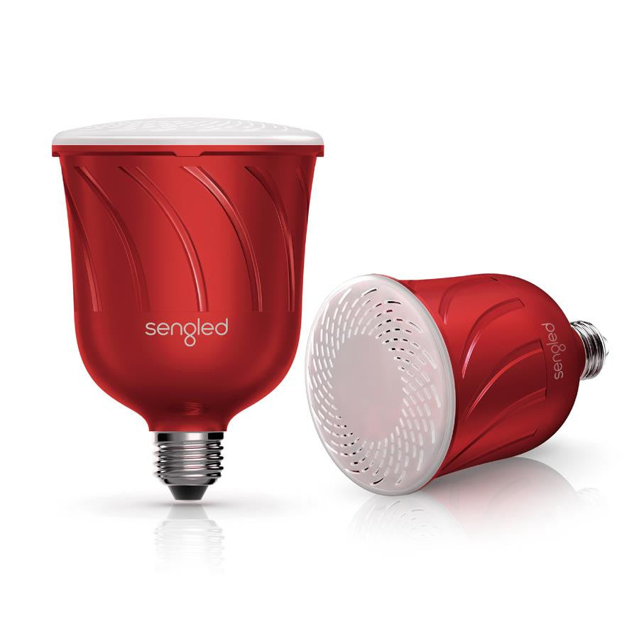 Sengled Pulse Dimmable LED Light with 2 Bluetooth Speakers Candy Apple - Makerwiz