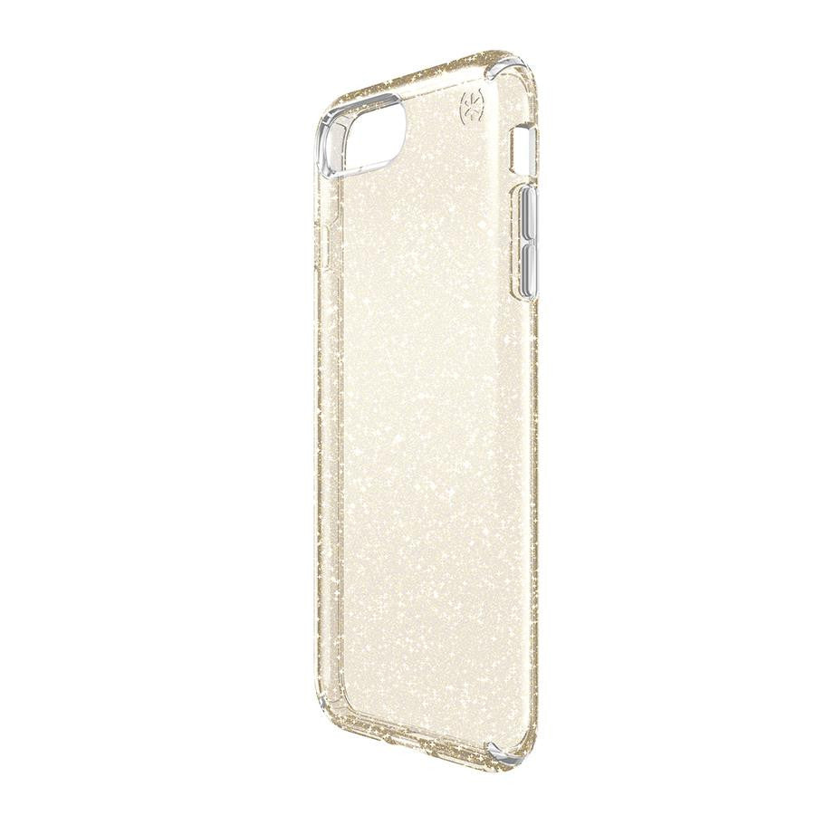 Speck APPLE iPhone 7 PRESIDIO CLEAR GLITTER CLEAR W/ GOLD GL - Makerwiz