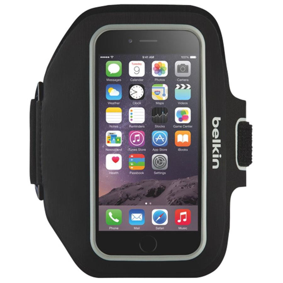 Belkin Sport-Fit Plus Armband for iPhone 6 Black/Ovr St - Makerwiz