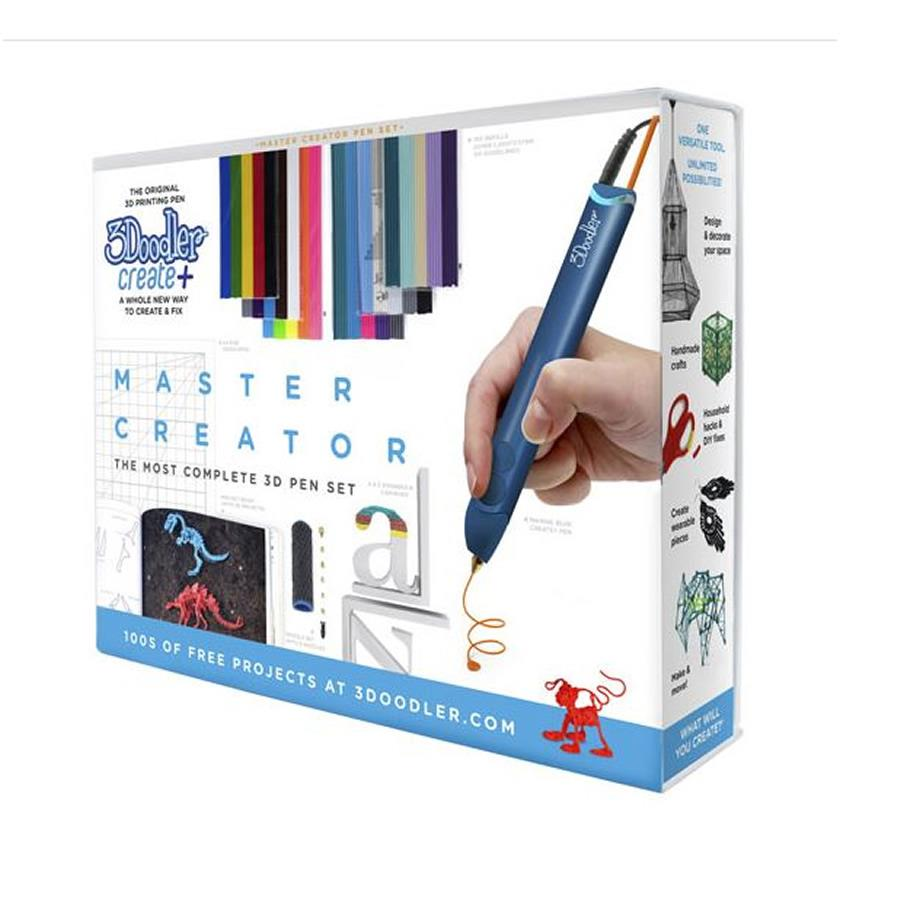 3Doodler Create Plus Master Creator 3D Printing Pen Set - Blue - Makerwiz