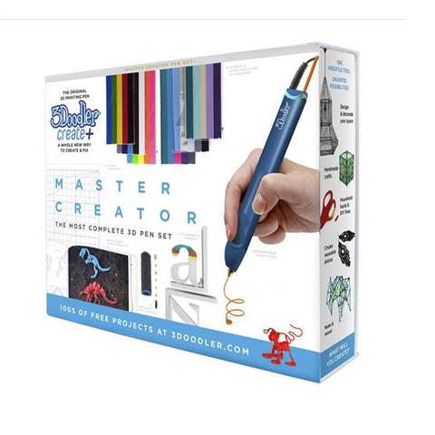 3Doodler Create Plus Master Creator 3D Printing Pen Set - Blue