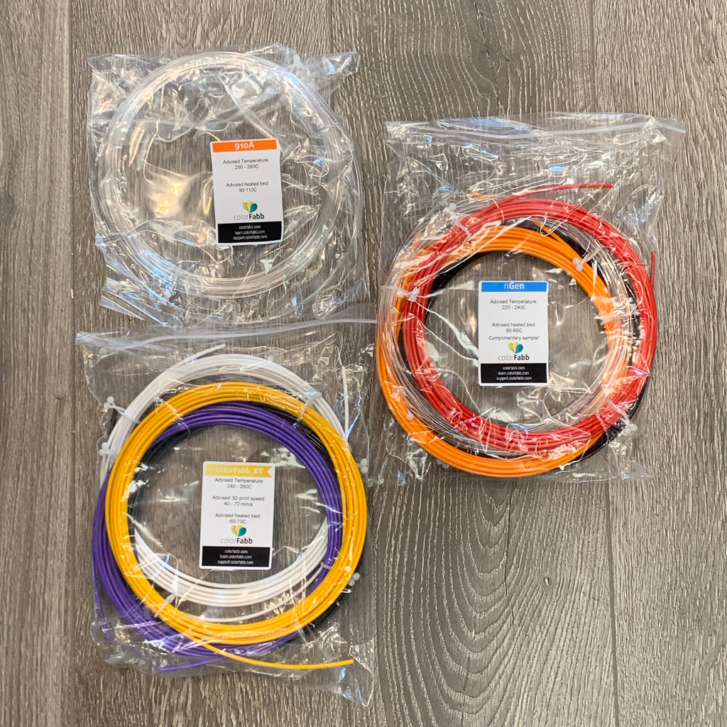 ColorFabb Sample Pack #4 - 2.85 mm Co-Polyesters - Makerwiz