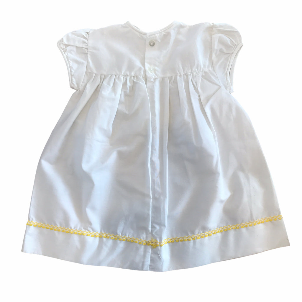 60's  White Vintage Delicately Embroidered Dress British Made 9-12 Months