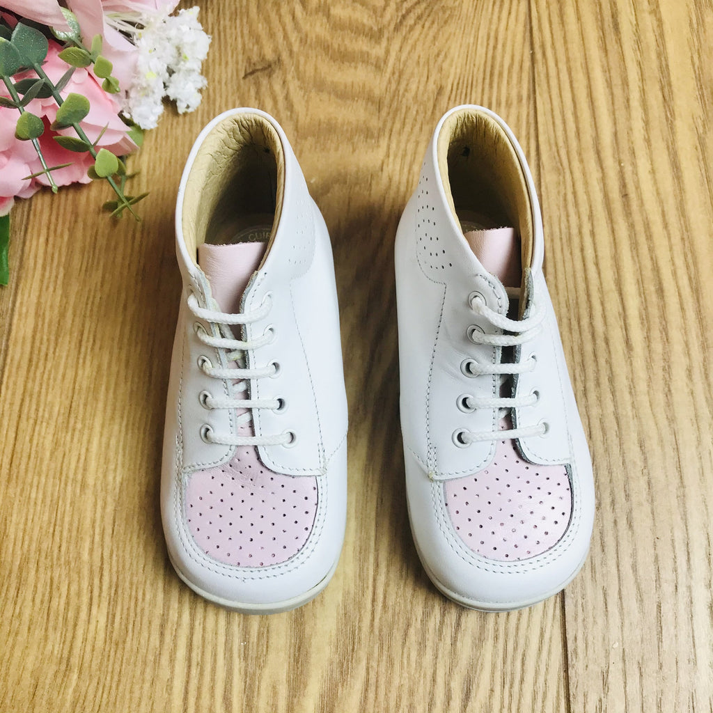 Deadstock 1970's Baby / Toddler Pink /White Walkers Made in France EU 21-23-Shoes-Petit Pays Vintage