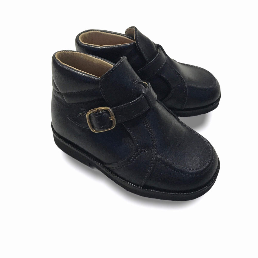 Deadstock 1970's Vintage Baby Black Walkers Boots Made in Italy EU 20-Shoes-Petit Pays Vintage