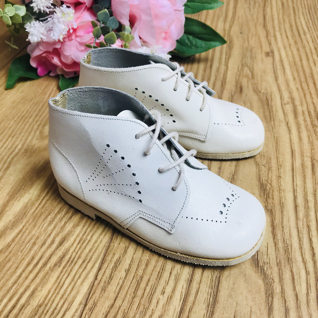 Deadstock 1970's Baby / Toddler White Walkers Made in France EU 22-23-24-Shoes-Petit Pays Vintage