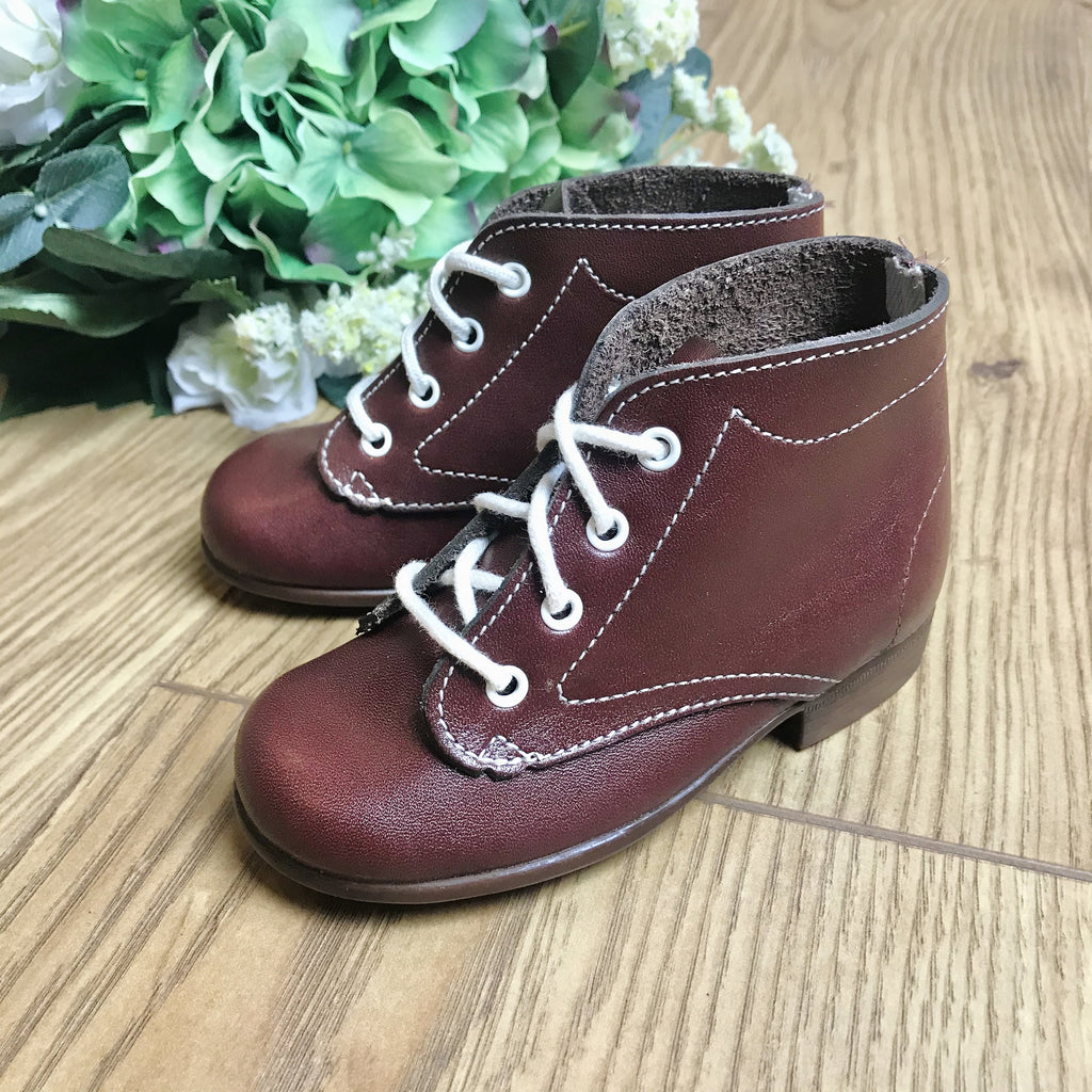 Deadstock 1970's Baby / Toddler Dark Red Walkers Made in France EU 19-20-21-22-23-Shoes-Petit Pays Vintage
