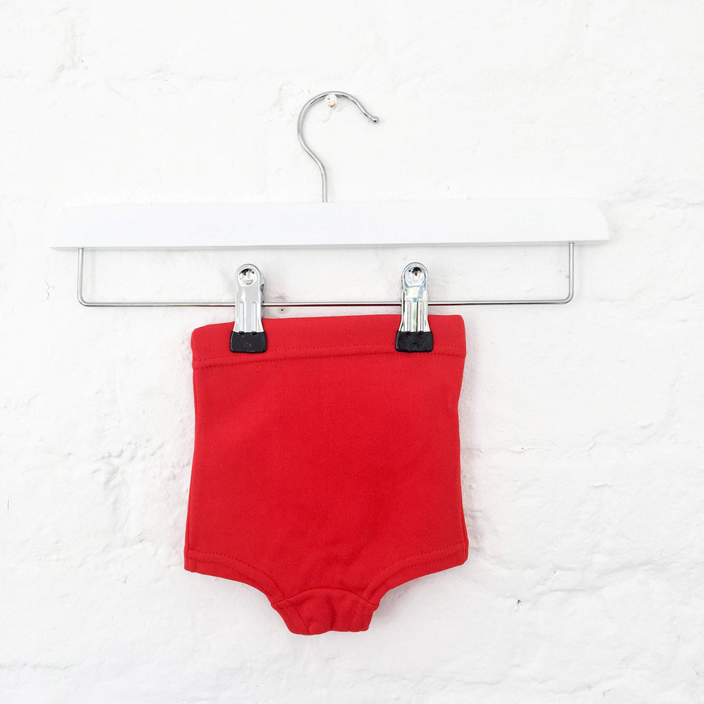 60's Vintage Red Swimming Trunk British New Old Stock 0-3m-Swimwear-Petit Pays Vintage