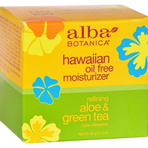 Alba Botanica Hawaiian Aloe And Green Tea Moisturizer Oil-free - 3 Oz