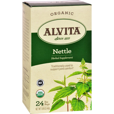 Alvita Teas Organic Herbal Tea Bags - Nettle Leaf - 24 Bags