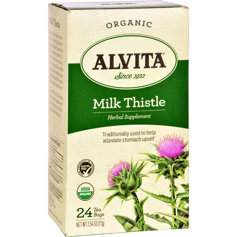 Alvita Teas Organic Herbal Tea Bags - Milk Thistle - 24 Bags