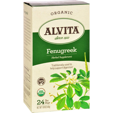 Alvita Teas Organic Herbal Tea Bags - Fenugreek - 24 Bags
