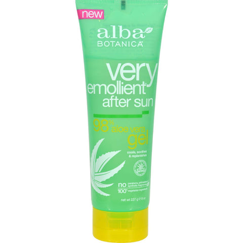 Alba Botanica After Sun Gel - 98% Aloe - 8 Oz