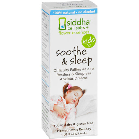 Sidda Flower Essences Soothe And Sleep - Kids - Age Two Plus - 1 Fl Oz