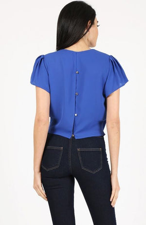 Short Sleeve top And Buttoned Back
