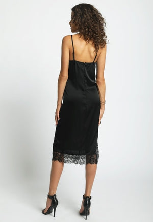 Silk Lace Maxi Midi Dress