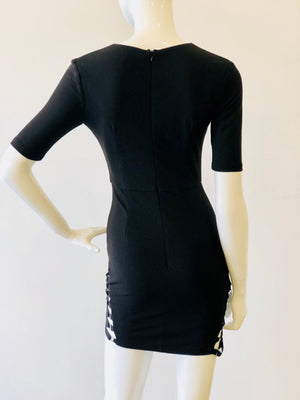 Black Dress With Side Ties